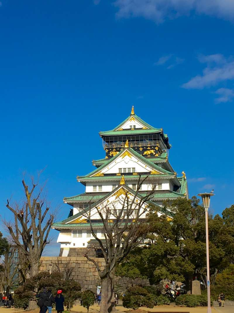 Osaka castle, one of the most famous samurai castle in Japan.