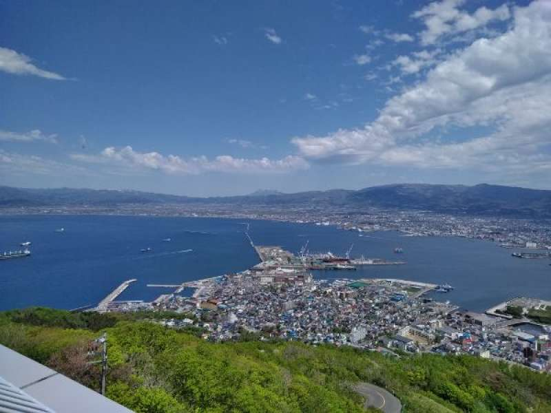 Panoramic view from the Mt. Hakodate.
