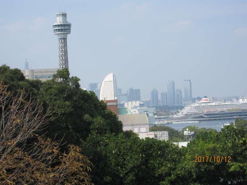 Yokohama port seen from Yamate Heights