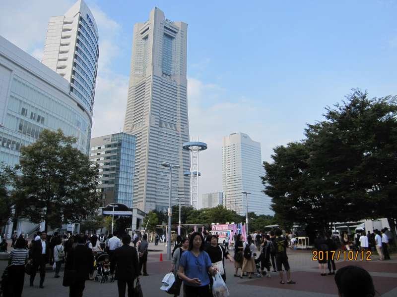 Landmark Tower:Seen from Sakuragicho station