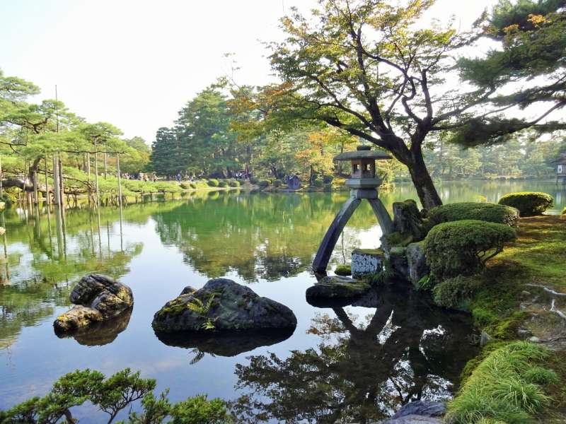 Kenrokuen, was chosen as the highest rated 3 star as a Japanese garden in