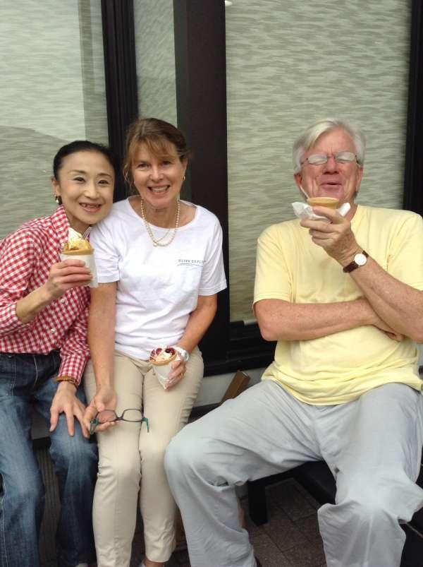 Wow! Wasabi ice cream!Yummy!