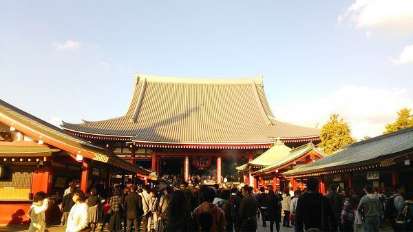 Sensoji temple in Asakusa. Let's enjoy hustle and bustle atmosphere of Asakusa.