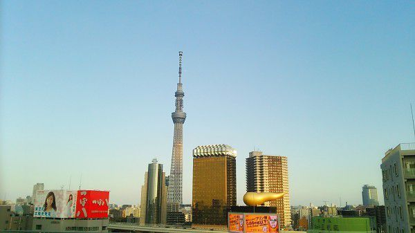 A nice view from Asakusa - The Tokyo Skytree and some interesting buildings in Asakusa