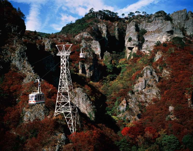 The Kankakei Gorge.  You can see spectacular views especially during the autumn season.
