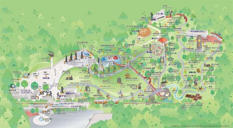 Map of Chokokunomori Museum