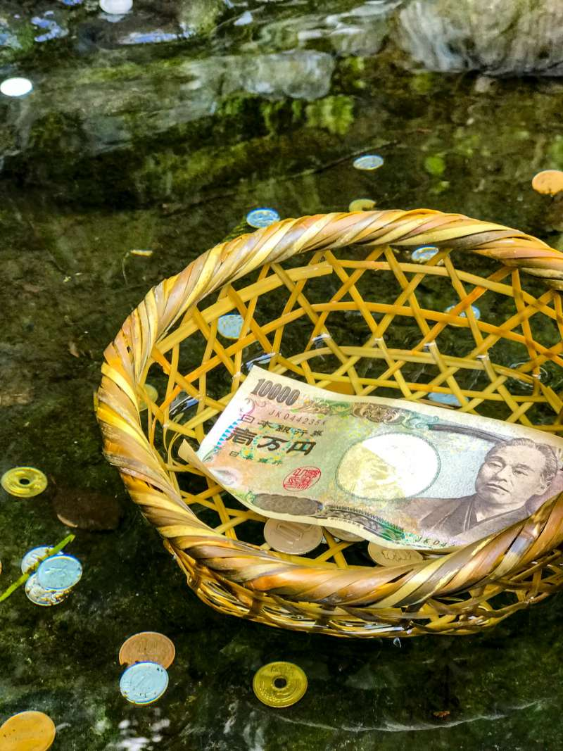 Zeniarai-benten is very famous about  washing money getting back many times as many times