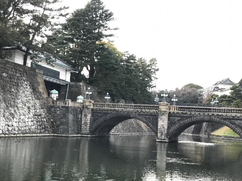 Nijyubashi bridge, the entrance of Palace, People enjoy taking beautiful pictures