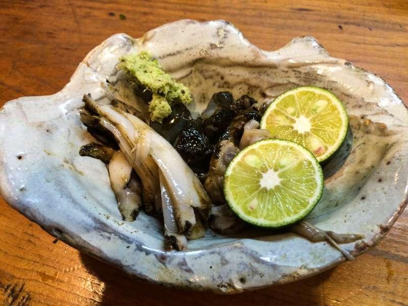 fresh abarone from Suruga bay