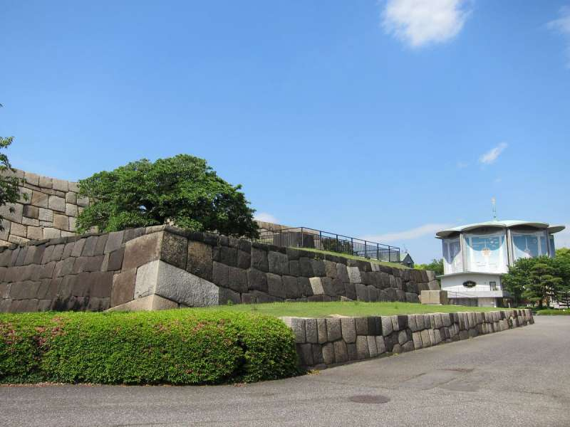Remains of Edo castle inside Imperial Palace East Garden.