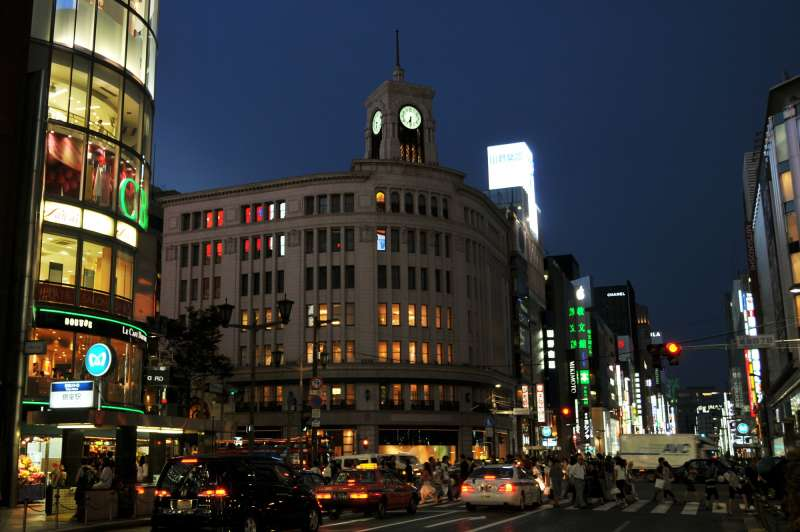 The best graceful and sophisticated town Ginza in Japan
