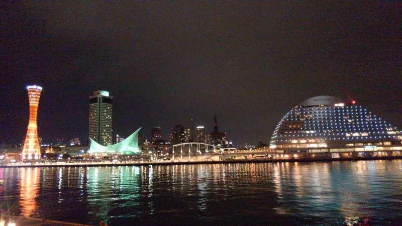 Kobe harbor night view