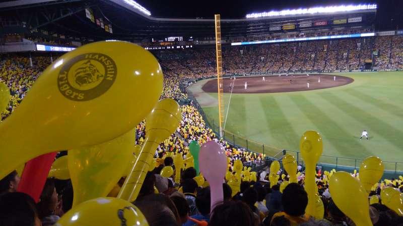 Hanshin Tigers baseball game is fun!