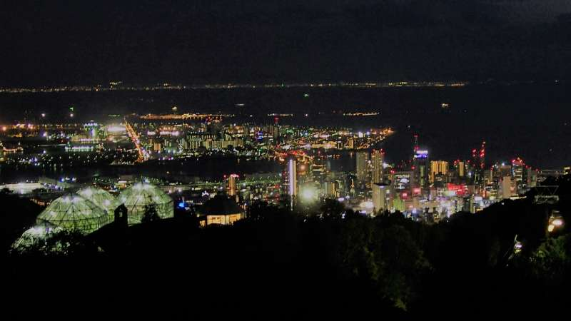 Night view from Nunobiki Herb Garden (open only on weekends and specific dates during summer)