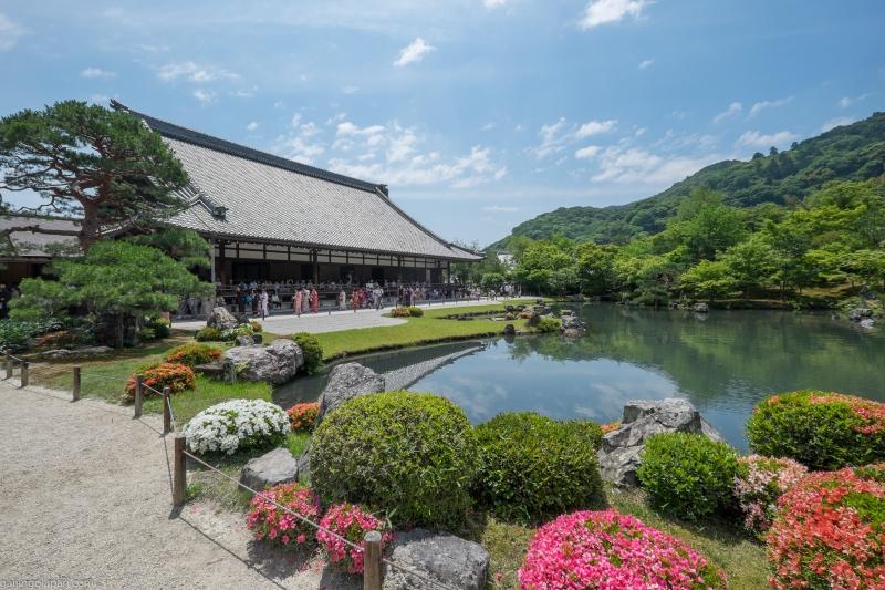 Tenryuji Temple, Garden (Sogenchi Pond), adjacent Bamboo Grove