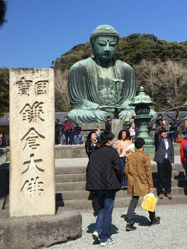 The big Buddha in Kamakura has been sitting for over 700 years! The statue itself is much older than that in Nara.