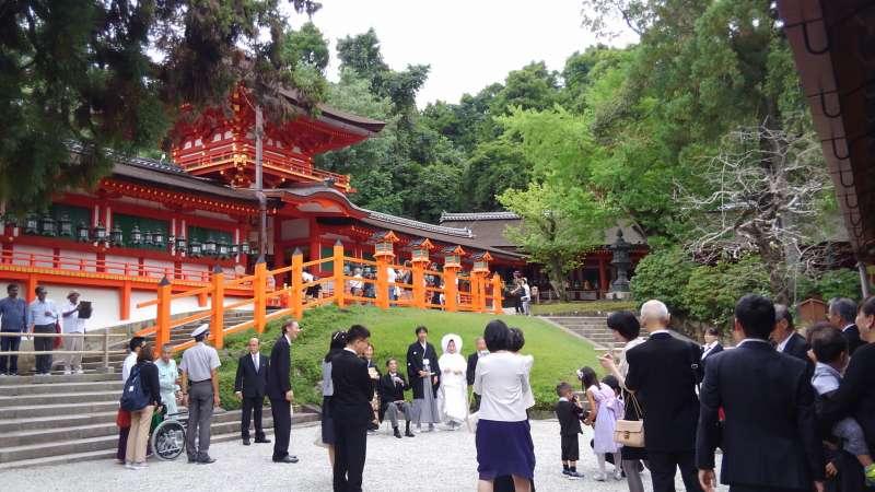Shinto wedding at Kasuga Taisha shrine (option)