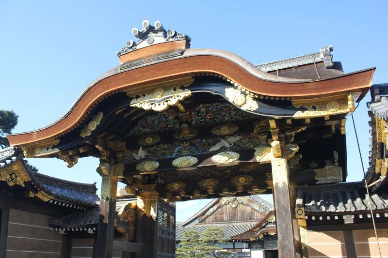 This is a Chinese style gate called Karamon.
