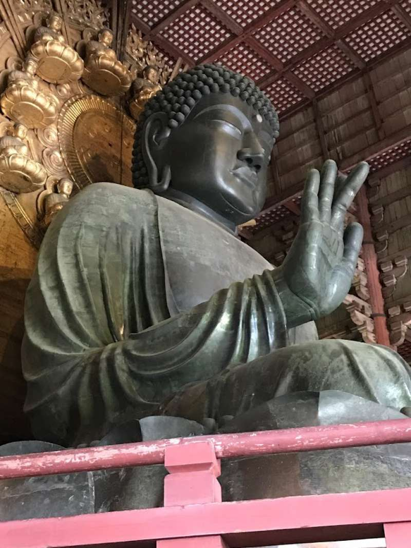Amazing! Can't you imagine this bronze Buddha was completed in 9th century?