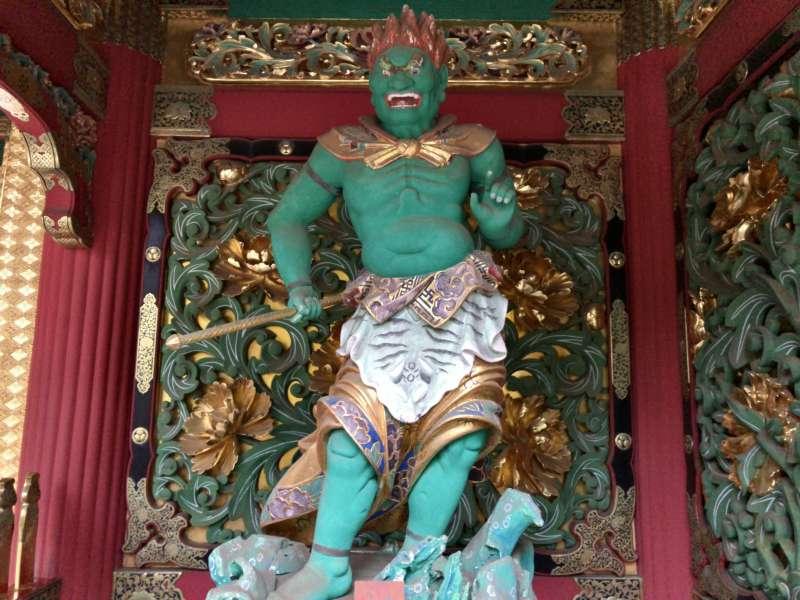 Jikoku-ten, a guardian deity in Taiyu-in Mausoleum.