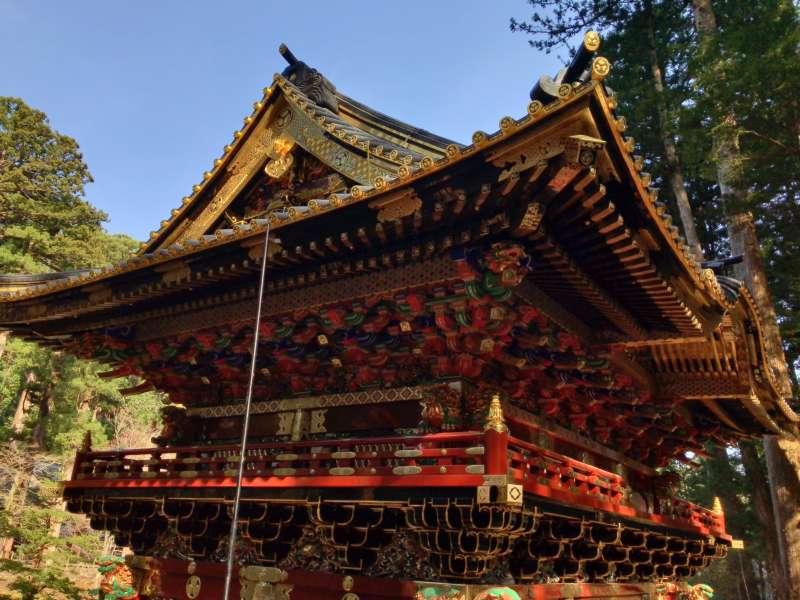 Niten-mon Gate in Taiyu-in Mausoleum.