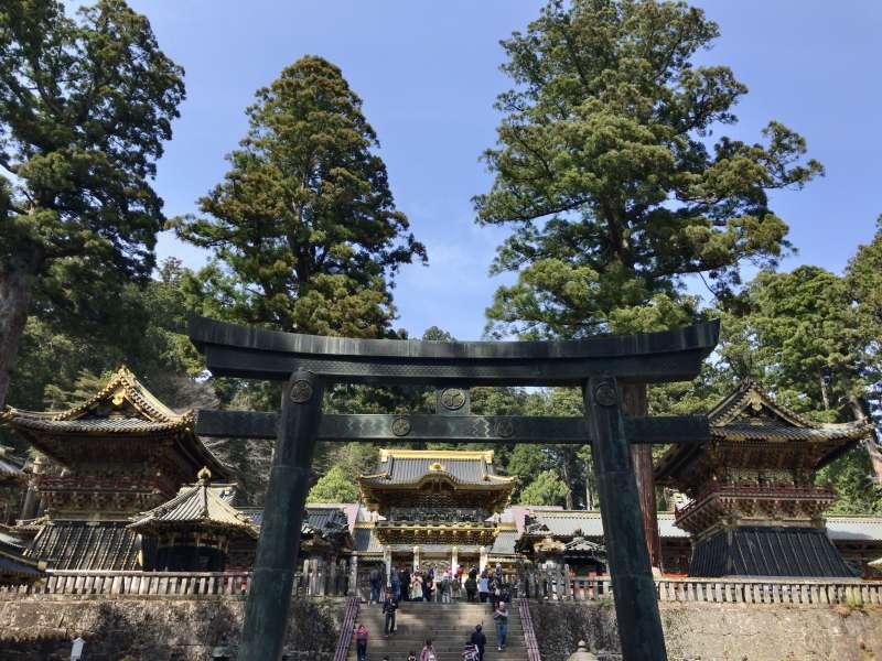 Karadoh Torii Gate, a bronze gate leading to Yomeimon Gate in Toshogu Shrine.