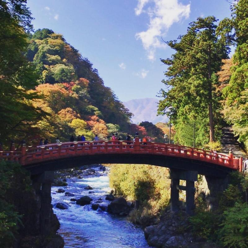 Shinkyo Bridge, Sacred Bridge across the Daiya River.