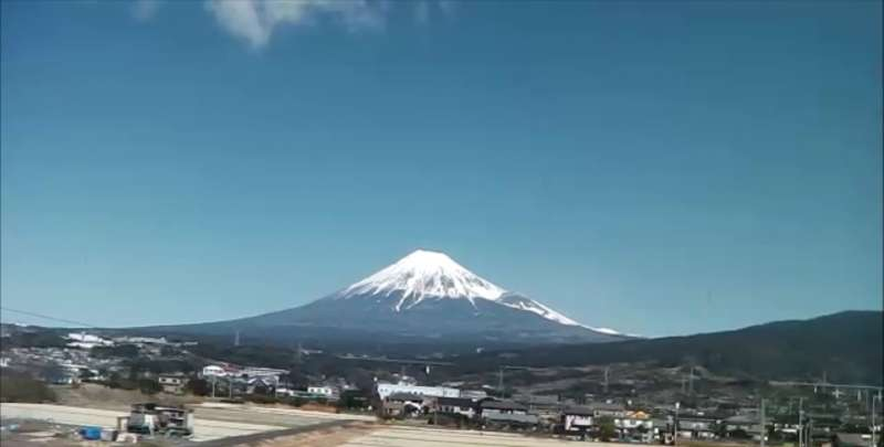 A view of Mt. Fuji from Shinkansen from Tokyo to Nagoya on the first day