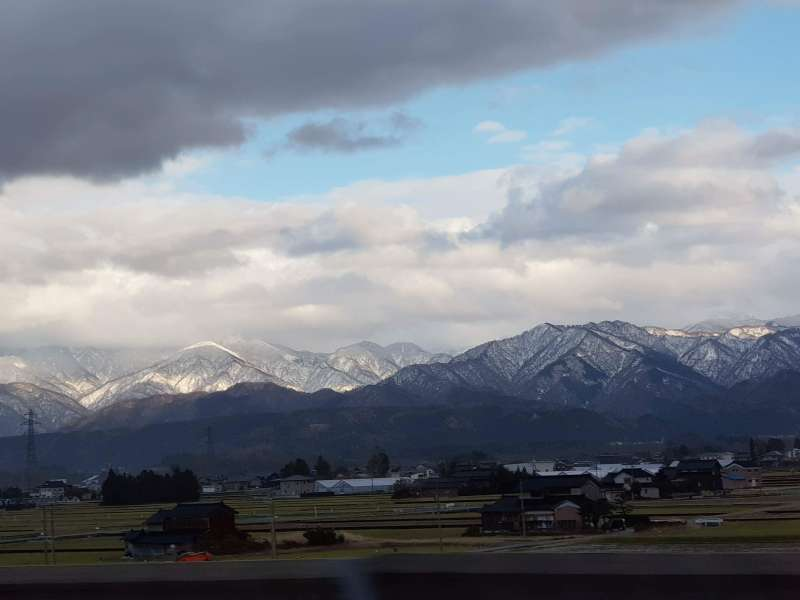 A view of Japan Alps from the Shinkansen on the second day
