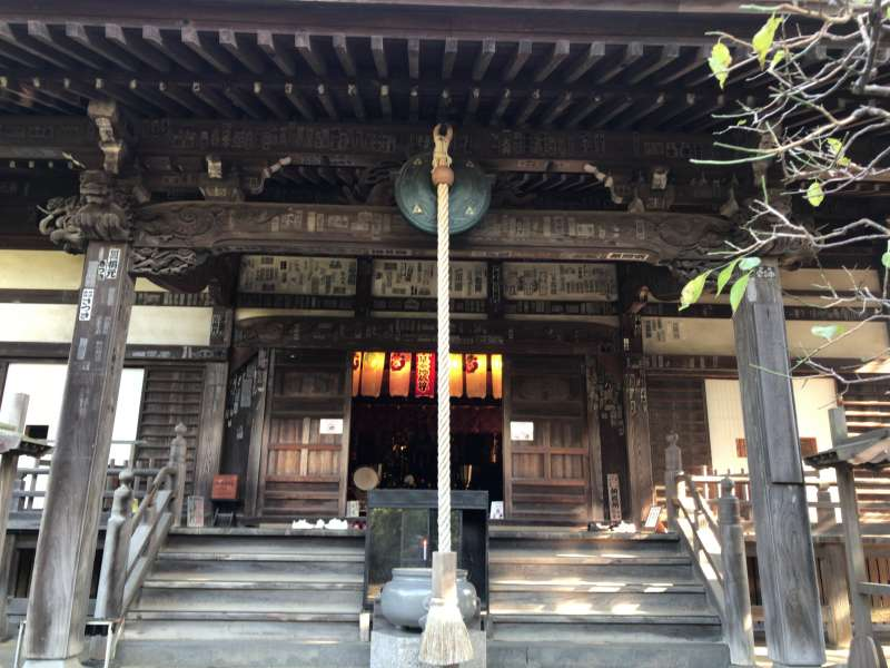 6. Bishamonten, the god of warriors is enshrined in the Main Hall of Hokai-ji Temple, in which you can see several precious statues and paintings.