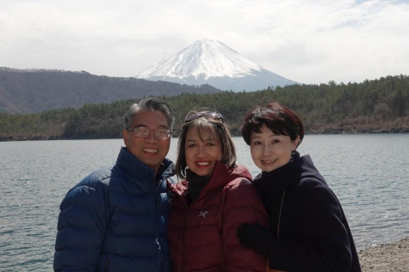 The view from Lake Saiko
