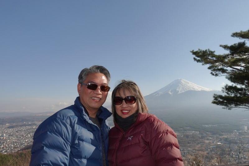 The view from the top of Mt. Kachi Kachi.(cable car)