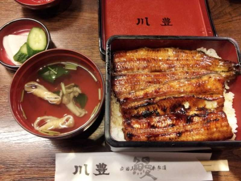 A grilled eel dish