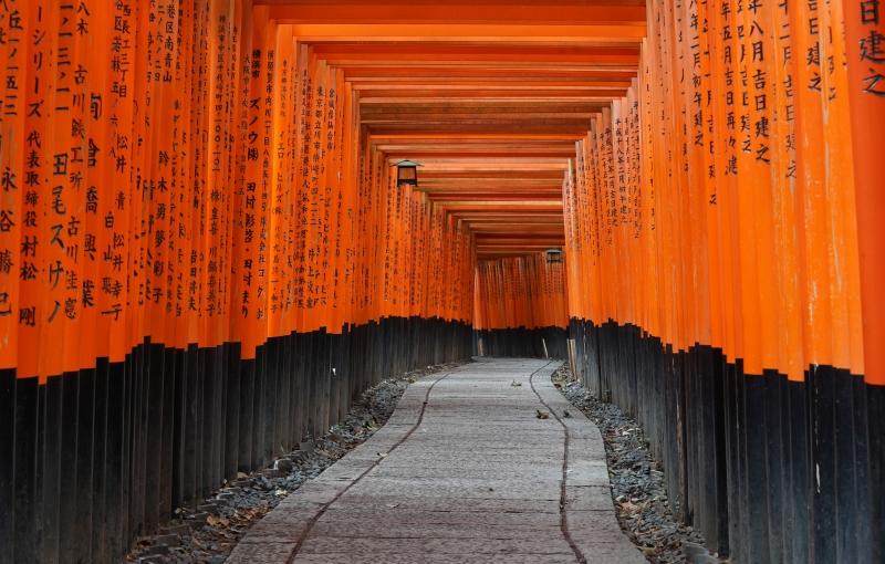 Fushimi Inari Taisha shrine The best place to take beautiful portrait picture