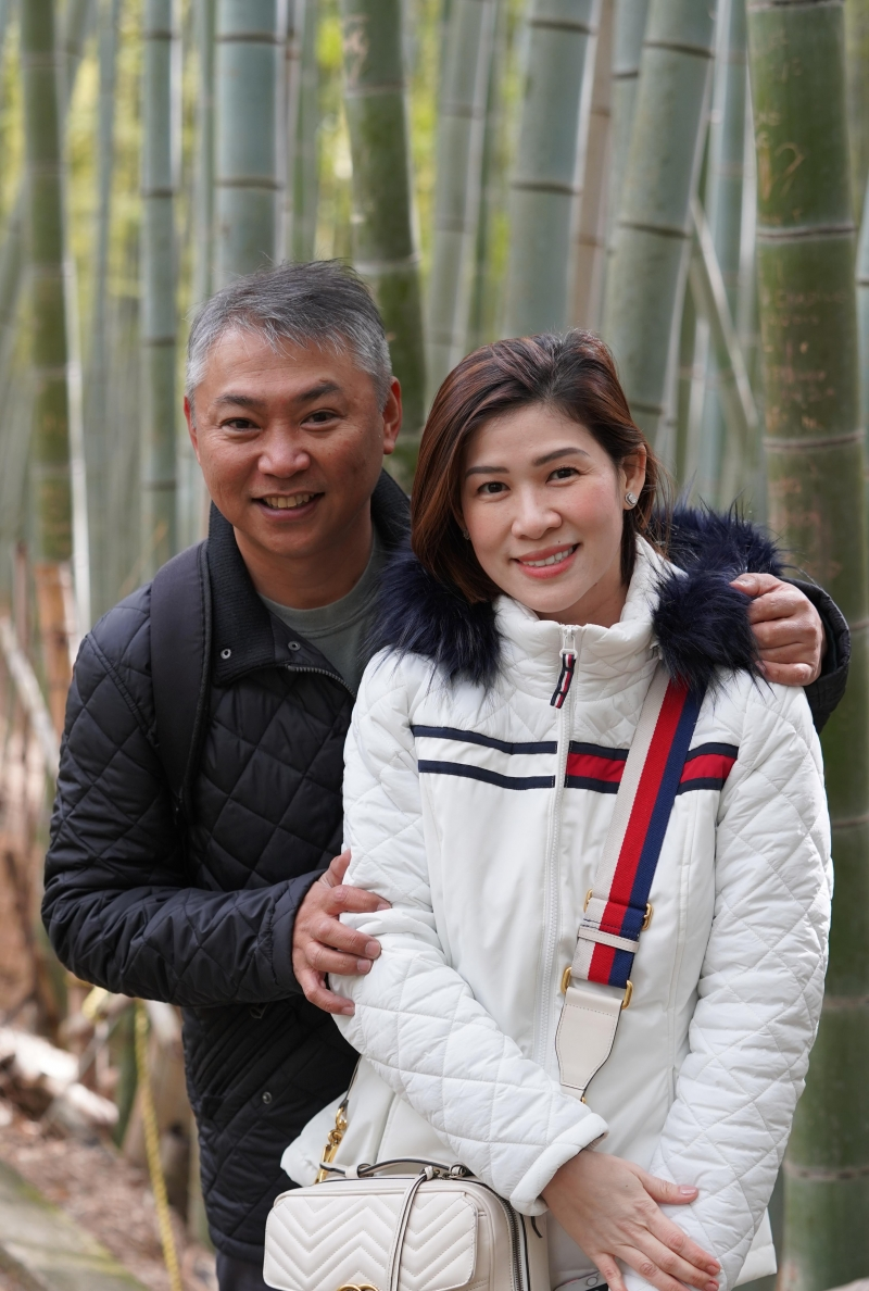 Memorable Portrait picture for my guest taken at hidden bamboo path located in Fushimi Inari Taisha shrine