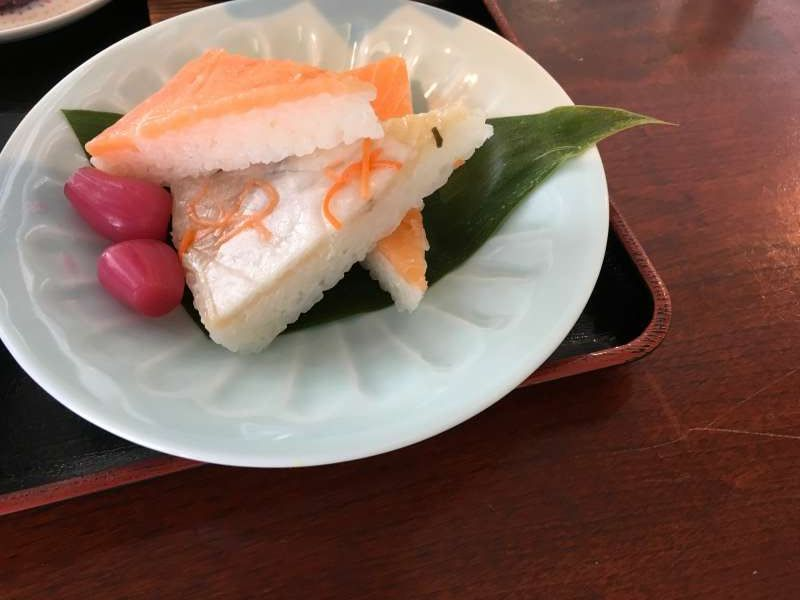 Masuzushi dish at Sakura-Tei restaurant In the museum