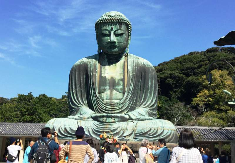 3. Kamakura route: Big Buddha which is a unique and very popular view of Kamakura (Admission 200 JPY per person, except for the guide)