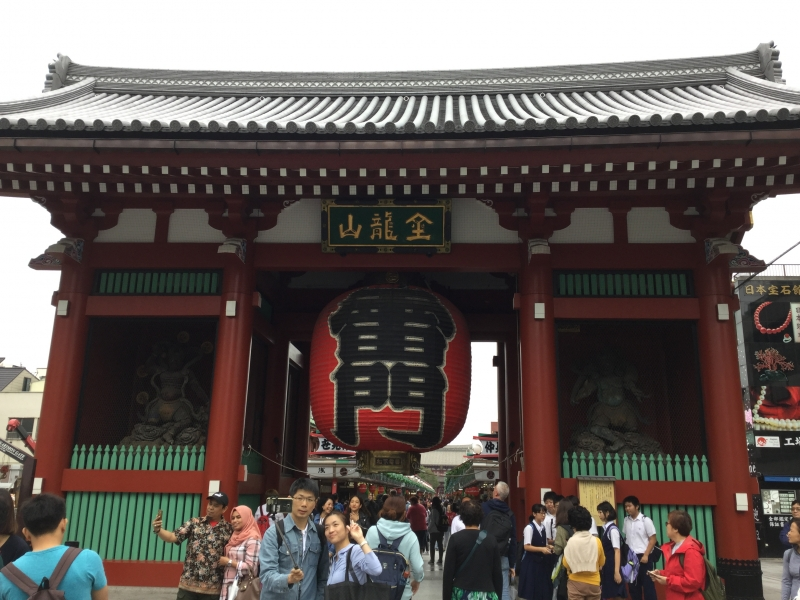 1. Tokyo route: Asakusa with Senso-Ji Temple and popular souvenir shopping street (Admission free )