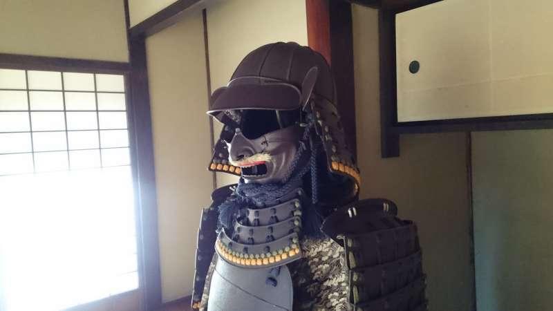 ☆Samurai armour exhibited in the Zashiki reception room in the former residence of the Tajima family.