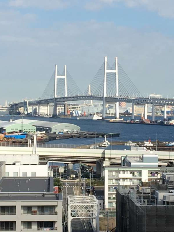 From the bluff area, you can enjoy views of the port area including the Bay Bridge.