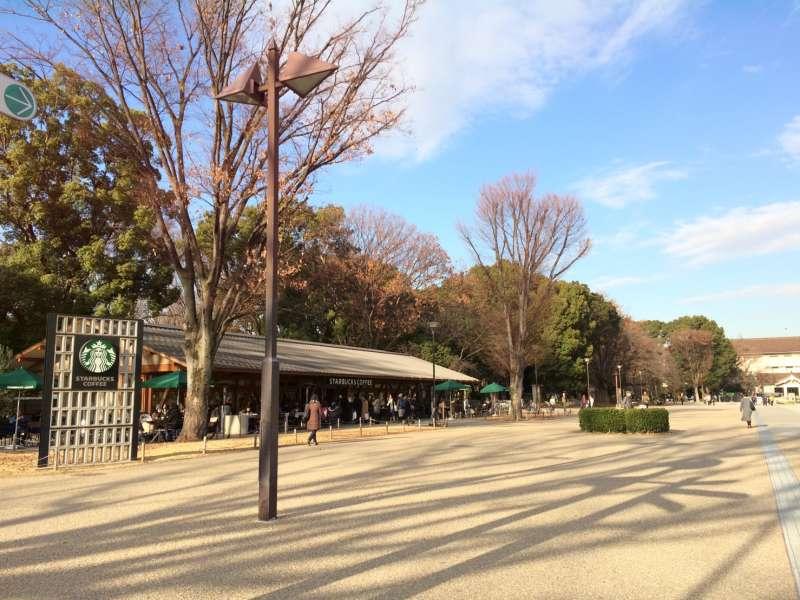 上野恩賜公園裡的星巴克!!!
