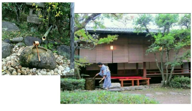 "It's a municipal-owned ""三逕亭Sankei-tei"" tea ceremony house with beautiful tea garden located in SAKURA Castle Ruins Park."