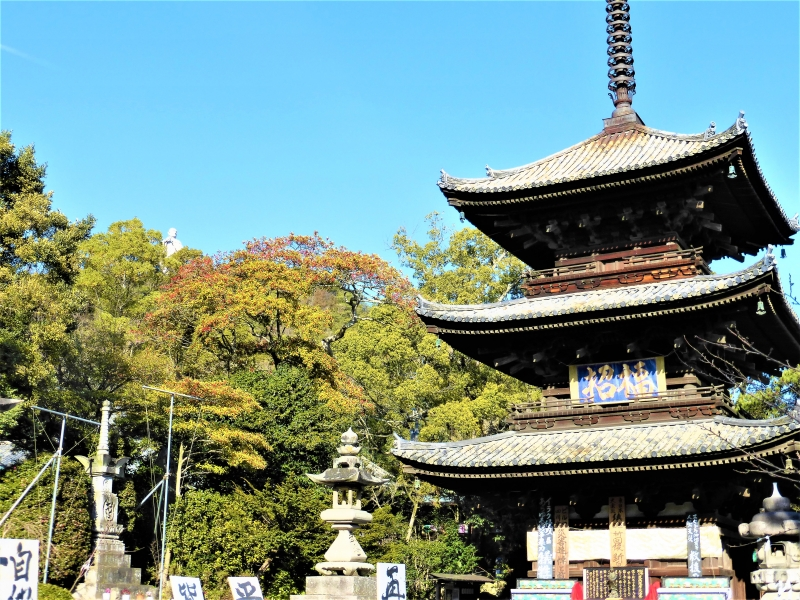 Three- storied pagoda of Ishite-ji Temple.