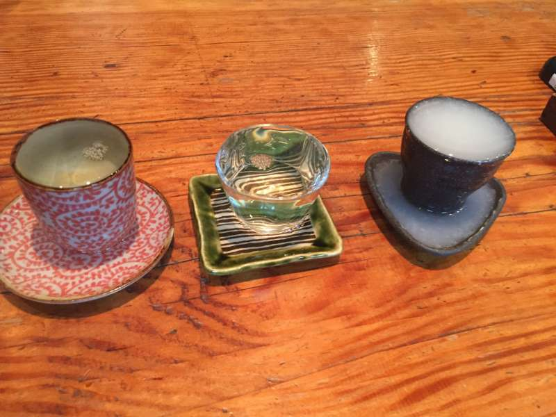 You can taste glasses of sake after the tour.