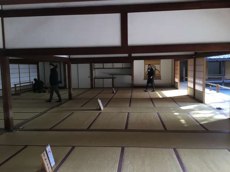 Houjou hall in Tenryuji temple used to be the living quarters of the chief priests.