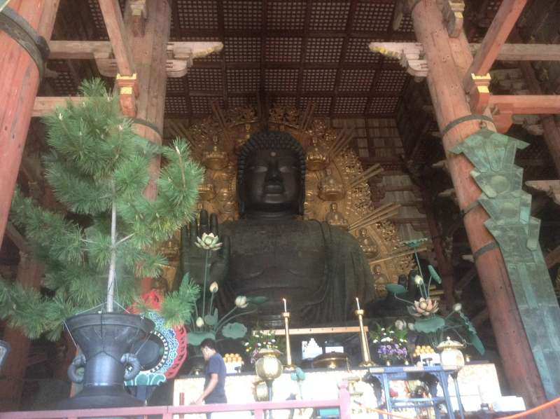 Huge Buddha statue in Toudaiji Temple