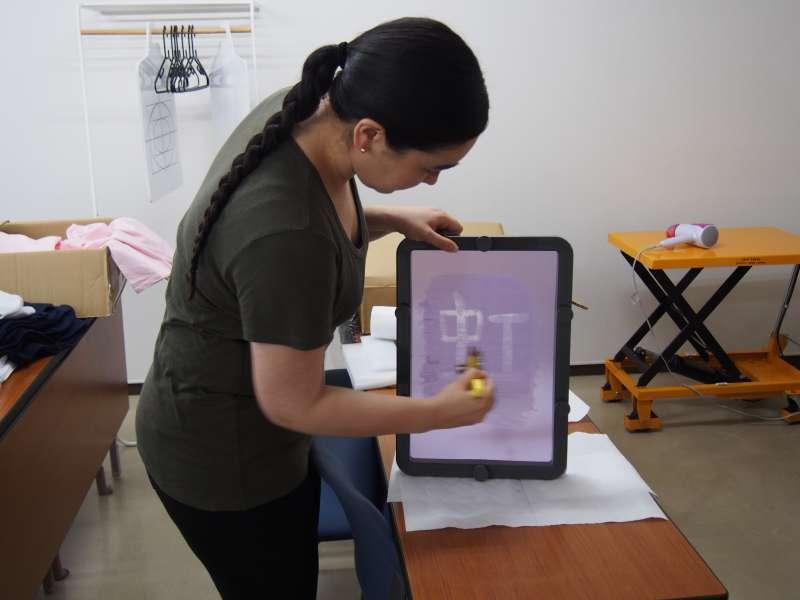 Make a silk screen transparent.