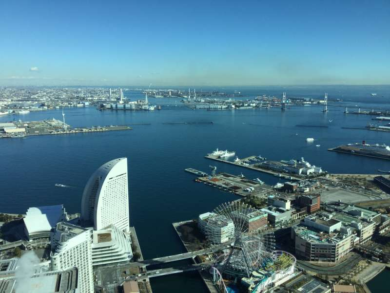 Landmark Tower, great view of Tokyo Bay from the observatory.