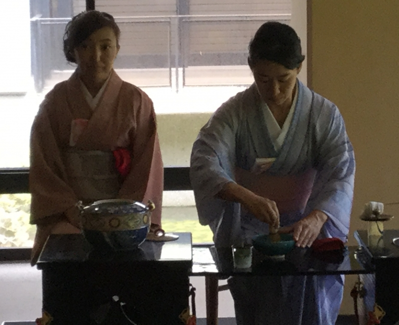 Tea ceremony at its art gallery