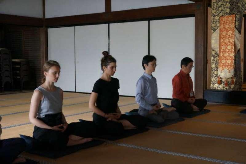 Zazen; Siting Meditation in Kencho-ji Temple